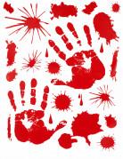 Stickers mains ensanglantées Halloween