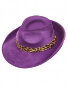 Chapeau pimp violet adulte