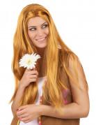 Perruque longue hippie rousse femme
