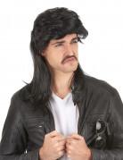 Perruque mulet noir homme