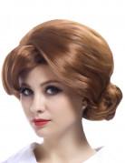 Perruque rousse star des années 70 femme