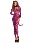 Déguisement léopard rose femme