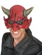 Demi masque latex démon adulte Halloween