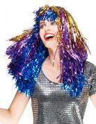 Perruque métallique multicolore longue femme - 76g