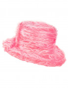Chapeau peluche rose adulte
