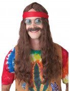 Perruque Hippie avec moustache
