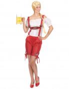 Déguisement tyrolienne short rouge femme