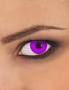 Lentilles fantaisie oeil violet adulte