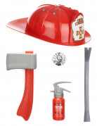 Set pompier en plastique pour enfant