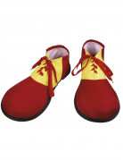 Chaussures clown rouges adulte