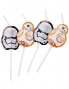 6 Pailles médaillon Star Wars VII ™