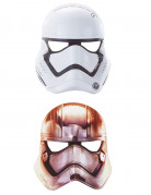 6 Masques plats en carton Star Wars VII ™