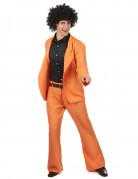Déguisement disco orange adulte