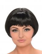 Perruque brune carré court femme