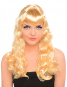 Perruque blonde longue bouclée