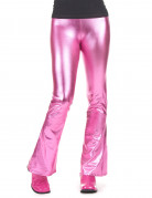 Pantalon disco rose fuchsia femme