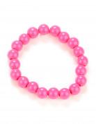 Bracelet perles rose adulte