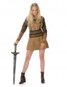 Déguisement viking marron femme