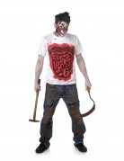 Déguisement zombie avec boyaux en latex homme Halloween