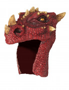 Casque dragon rouge adulte