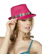 Chapeau borsalino peace rose adulte