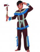 Déguisement indien à franges bleues garçon