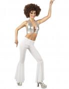 Pantalon disco blanc femme