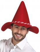 Chapeau bavarois rouge adulte