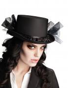 Chapeau haut de forme noir femme Halloween