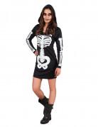 Déguisement squelette à capuche adolescente Halloween