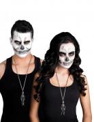 Collier métal squelette adulte Halloween