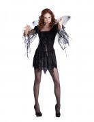 Déguisement ange noir avec ailes femme