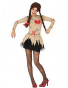Déguisement poupée vaudou beige femme