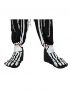 Sur-chaussures squelette adulte Halloween