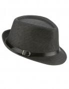 Chapeau borsalino gris luxe avec boucle adulte