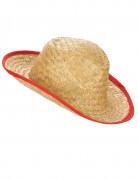 Chapeau Cowboy avec rebord rouge adulte