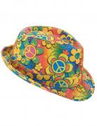 Chapeau borsalino hippie à fleurs adulte