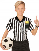 T-shirt arbitre de foot enfant