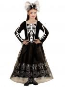 Déguisement squelette à jupon long fille Halloween