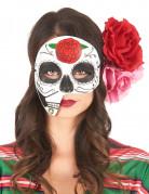 Masque asymétrique Dia de los Muertos adulte