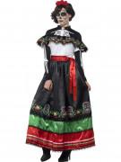 Déguisement mexicaine robe longue femme Dia de los muertos