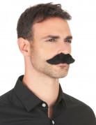 Moustache synthétique noire adulte