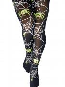 Collants araignées phosphorescent adulte Halloween