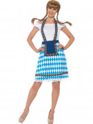 Déguisement bavaroise bleue et blanche femme