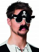Lunettes avec moustaches pirate adulte