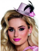 Mini chapeau rose années 20 femme