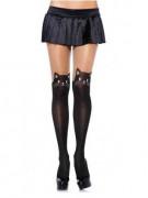 Collants noirs petit chat femme
