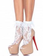 Socquettes en dentelle blanche femme