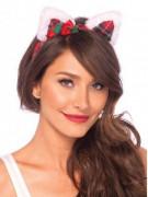 Serre tête oreilles de chat femme Noël