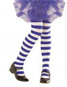 Collants rayés bleus et blancs enfant